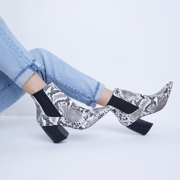 Best Snakeskin Booties Products on Wanelo 21975fe9abe8