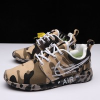 Best Deal Online OFF-White X Nike Air Roshe One Camo Beige Running Shoes