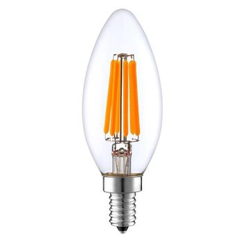 LED Filament Light Bulb, 6W (40W Equivalent), 600 Lumen, 2700K (Warm White), (E12) UL-Listed – (Pack of 6)