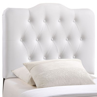 Annabel Twin Vinyl Headboard in White