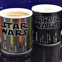"Star Wars Mug Lightsaber Heat Reveal Mug color change coffee cup sensitive Ceramic Mug "" FREE SHIPPING """