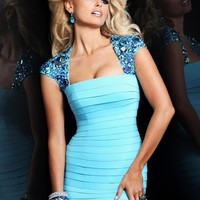 Sherri Hill 2934 Blue Cocktail Dress