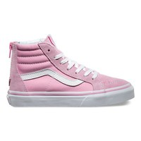 Vans Kids SK8-Hi Zip (prism pink/true white)