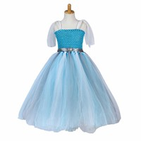 CRAZY POMELO Snow Queen Princess Costume Dress With Gillter Belt Height 100cm