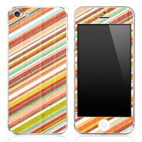 Slanted Vintage Striped iPhone 3g/3gs, 4/4s or 5 Skin