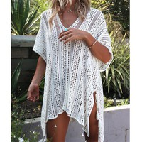 shermie Women beach dress Sexy crochet beach cover up Women Swimwear Summer Outings Beach Swim Suit Cover Ups Women Beach Wear