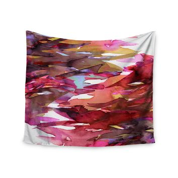 "Ebi Emporium ""Fervor 6"" Pink Multicolor Watercolor Wall Tapestry"