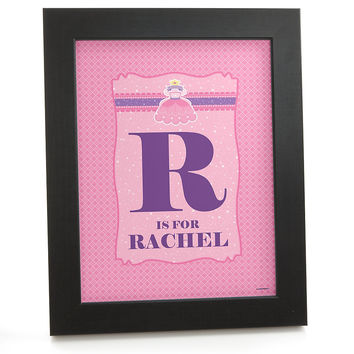 Pretty Princess - Personalized Baby Shower Wall Art Gift
