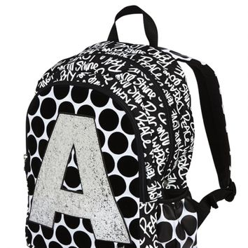 Polka Dot Initial Backpack