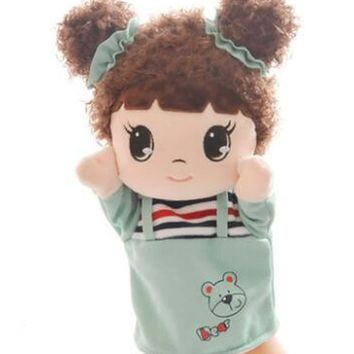 Lovely Girl With Cloth Puppets Cartoon Pattern Hand Puppet