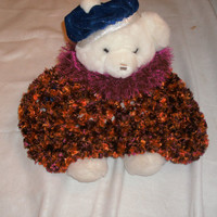 handmade crocheted ribbon yarn childrens by CanadianCraftCritter