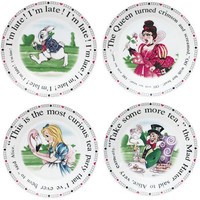 Alice in Wonderland Dessert Plates
