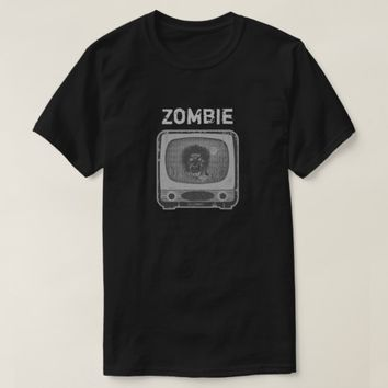 Zombie Retro TV T-Shirt