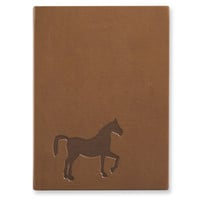 Horse Faux Leather Essentials Journal - Embossing Personalized Gift Item
