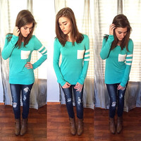 Mint And Stripes Top