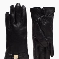 leather gloves bow gloves