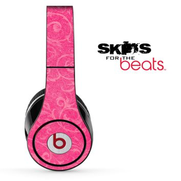 Pink Subtle Floral Fossil Skin for the Beats by Dre Solo, Studio, Wireless, Pro or Mixr
