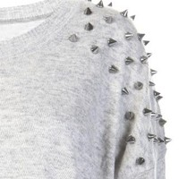 Spiked Shoulder Sweater