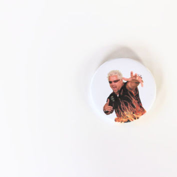 GUY FIERI MEME 2 1/4 inch pin