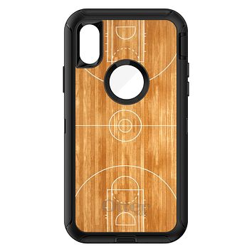 DistinctInk™ OtterBox Defender Series Case for Apple iPhone or Samsung Galaxy - Basketball Court Layout