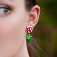 The original YOUCH Piranha Plant Earrings - Mario Brothers