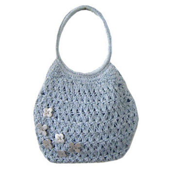 Summer Straw Bags Beach Tote/Studded Straw Shoppe/ High-capacity Handbags