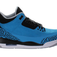 "Air Jordan Retro 3 III ""Powder Blue"" Dark Powder Blue - White - Black"