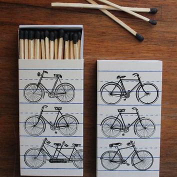 Boho Retro Bicycle Matches