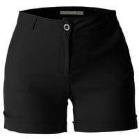 LE3NO Womens Plus Size Lightweight Basic Summer Shorts with Pockets (CLEARANCE)