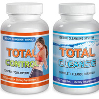Slimax Total Weight Loss Diet Cleanse Control Kit Detox Fat Burn Control Appetite