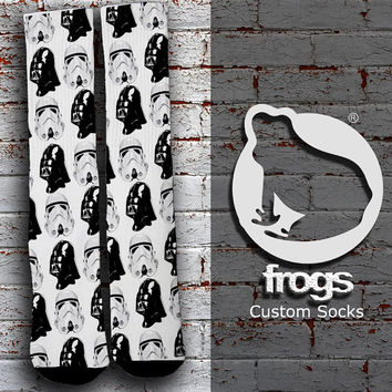 Starwars Darth Vader Storm Troopers Elite Socks, Custom socks, Personalized socks