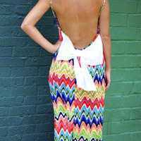 Paint Outside The Lines Maxi Dress: Multi | Hope's