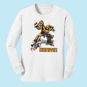 Personalized Transformer's Bumblebee Personalized Long Sleeve T shirt