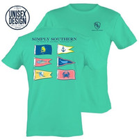 """Simply Southern """"Flag"""" Unisex Short Sleeve"""