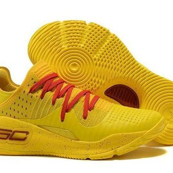 DCCKL8A Jacklish Under Armour Curry 4 Low Yellow Red For Sale
