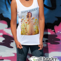 Katy Perry Tank Top Size S M L Womens music Tank Tops Cool Fresh Vest Singlet Womens Clothes