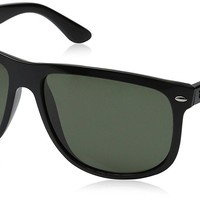 Ray-Ban Men's RB4147 Black Frame Polarized Green 60mm Lens Sunglasses