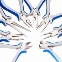 8pcs Jewelry Pliers Sets Tools For DIY Jewelry Making Equipments About 4.5cm~6cm wide 11cm~16cm Long