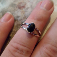Authentic Navajo,Native American,Southwestern sterling silver black onyx ring,made to order.Unisex.