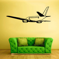 Wall Vinyl Sticker Decals Decor Art Airplane Plane Aircraft Airlane (z1153)