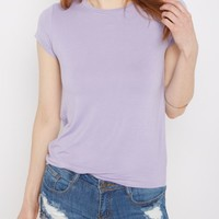 Light Purple Crewneck Tee | Short Sleeve | rue21