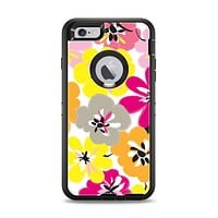 The Bright Summer Brushed Flowers  Apple iPhone 6 Plus Otterbox Defender Case Skin Set