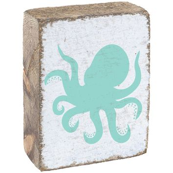 Octopus | Wood Block Sitter | 6-in
