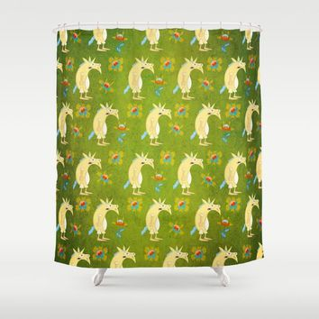 Flowers & Unicorns Shower Curtain by That's So Unicorny