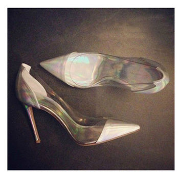Pointed Toe High Heel Mosaic Star Shoes = 4814754500