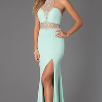 Floor Length High Neck JVN by Jovani Dress