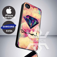 Diamond Supply Co Logo Galaxy for iPhone 4, iPhone 4s, iPhone 5, iPhone 5s, iPhone 5c, Samsung Galaxy S3, Samsung Galaxy S4 Case