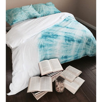 Bohemian Duvet Set in Aqua & White (Twin/XL Twin or Full/Queen/King)