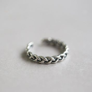Jewelry Stylish Gift Shiny New Arrival 925 Silver Simple Design Twisted Korean Accessory Ring [8380559431]