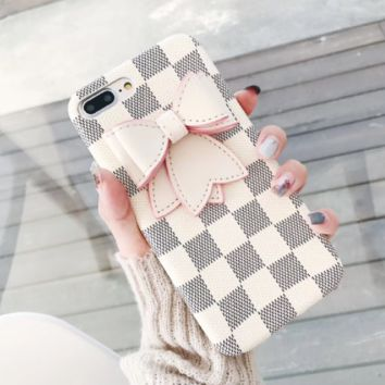 lv print phone shell phone case for Iphone 6/6s/6p/7p/7/8/8p/X